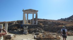 This temple of Isis - since Delos was such a middleground, even Egyptians had fun