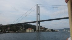 The 1st Bosphorous Bridge, built in the 1970s, and spans Europe and Asia