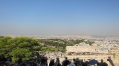 From the stairs, you can see the whole of Athens