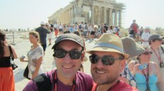 Us, the Parthenon, the crowds, and the heat