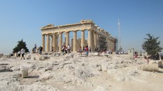Read up on the architectural tricks the Greeks used to make the Parthenon look perfect