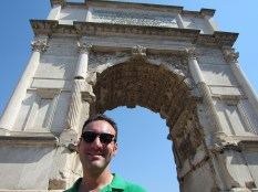 The Titus Arch is of significance to the Jewish people - hence Larry