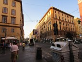 A quiet Rome in the morning as we walk to the Vatican Museum