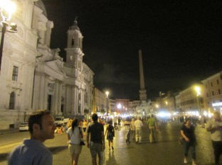 Walking further into the Piazza Navona