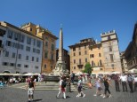 Beautiful, yet hot, Roman day in the Pantheon courtyard