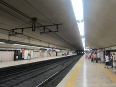 Down in the Roman Metro at the Colosseo stop