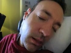 Larry's fake sleepy face