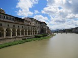 Looking towards the Uffizi Art Museum