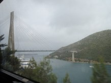 The Tudman bridge from our bus
