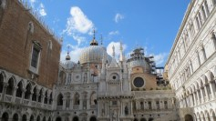 Inside the Doge's Palace courtyard