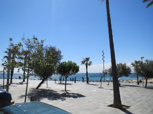 Gorgeous beach area of Barceloneta