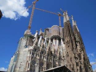 Our first view of the Sagrada Familia