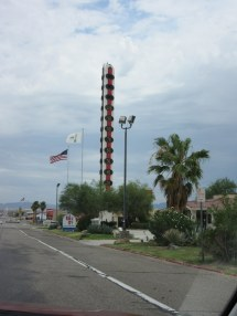 The World's Largest Thermometer in Baker is working again
