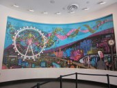 The neat mural in the ticket area for the High Roller