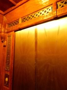 The swanky elevator doors
