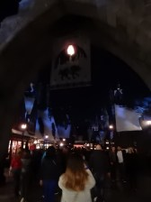 The entrance to Hogsmeade
