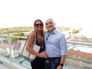 On the Hotel Wilshire rooftop with Erin