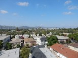 Looking towards the Hollywood Hills due north