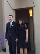 Larry and Fran making their entrance