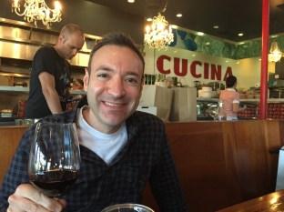 Larry at his birthday restaurant, Terroni