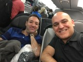 Situated in Business Class for our flight to JFK