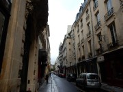 This is the street outside our hotel, the Rue St Louis en I'lle