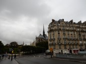 We crossed from our island to the De La Cite island - and yes, that's the Notre Dame Cathedral from behind