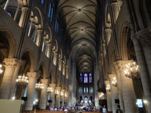Inside where a mass was actually being held