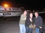 Robbie, Mila and Byron are ready for their learjet