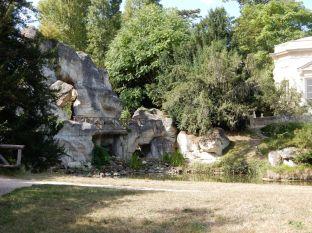 A rock wall much like at Disneyland