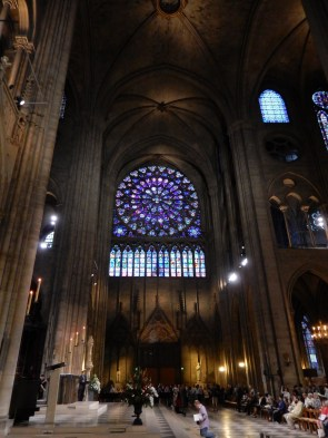 Looking toward the southern-facing Rose window, although it's the Northern one that's more well known