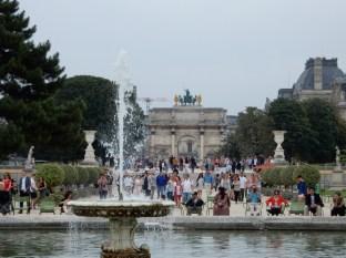 Plenty of tourists