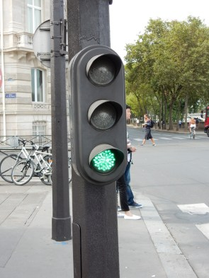 Mini-lights for when you're up front at the intersection