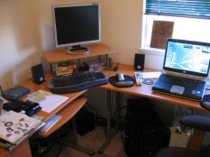 More focus on the new desk