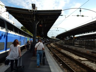 Back in Paris at the Gare de L'est - MANY people and a FAR walk back to the station