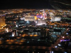 ....view straight down the Strip....