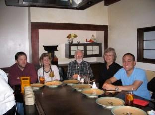 Loren, Amber, Harv, Mom and Me at Benihana's
