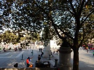 Approaching Trafalgar Square