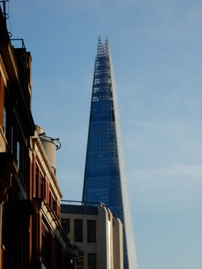 That's the Shard, from a good distance away. Tallest building in London now.