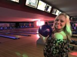 Nicki working that bowling ball glamour