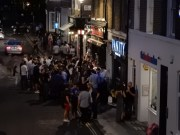That night, we saw that EVERY pub was mobbed. No reason.