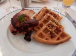 I got the chicken and waffles - it was heaven