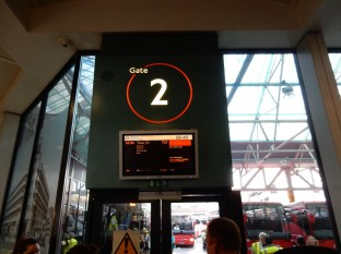 Our gate at Victoria Coach Station
