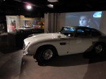 Another view of the Aston Martin DB5 as well as a model made for Skyfall
