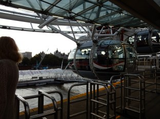 About to board our Champagne Experience pod