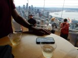 Had to grab a glass of wine atop a tall tower