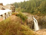 View of the falls from right at the Salish Lodge