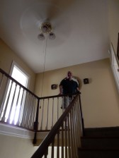 UNREAL - this is me, on the staircase, with the Fan.