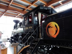 At the Roundhouse sits the first train to go to Vancouver