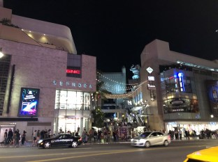 Looking across Hollywood Blvd at Hollywood & Highland